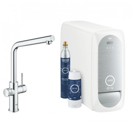 Кухненски смесител за филтрирана, изстудена и газирана вода GROHE BLUE HOME 31454001