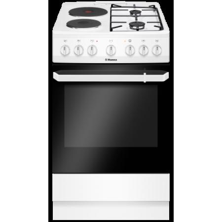 Комбинирана печка на газ и ток, 50см, 11 функции, Hansa FCMW59119