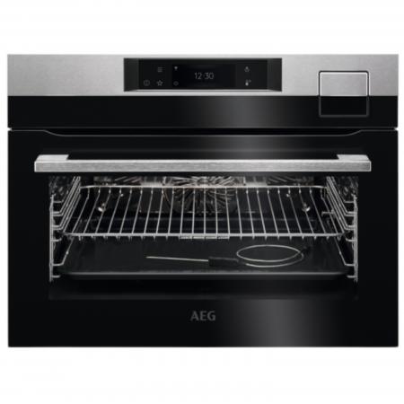 Компактна фурна с готвене на пара AEG KSK798280M