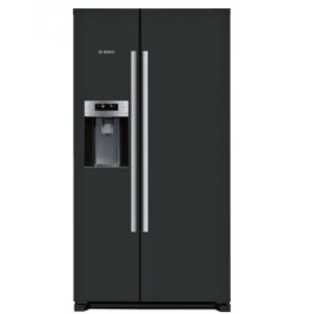 Хладилник с фризер, 2 врати Side-by-Side, NoFrost ,Черен