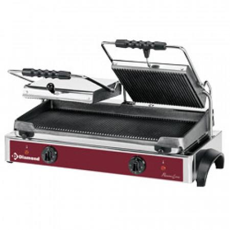 Електрически контактен грил тостер, двоен -Panini grill Diamond