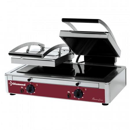 Електрически контактен грил тостер, двоен с витрокерамика Diamond