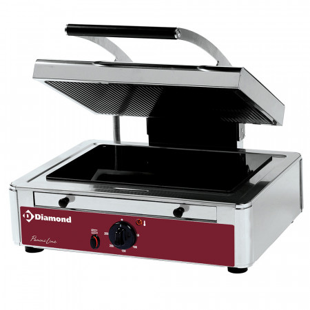Електрически контактен грил тостер с витрокерамика Diamond