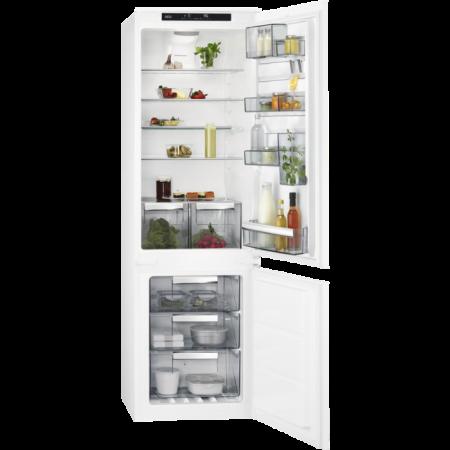 Хладилник с фризер за вграждане AEG SCE81824TS