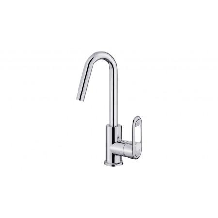 Смесител за баня с керамична глава NEXOS за мивка, висок 180