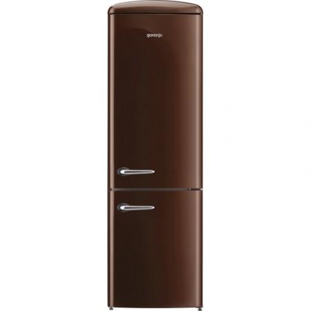Хладилник сфризер, Gorenje Retro Collection ORK192CH, цвят шоколад
