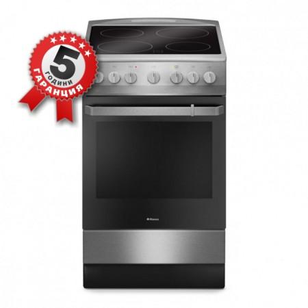 Стъклокерамична готварска печка, 50см с електрически грил Hansa FCCX 54109