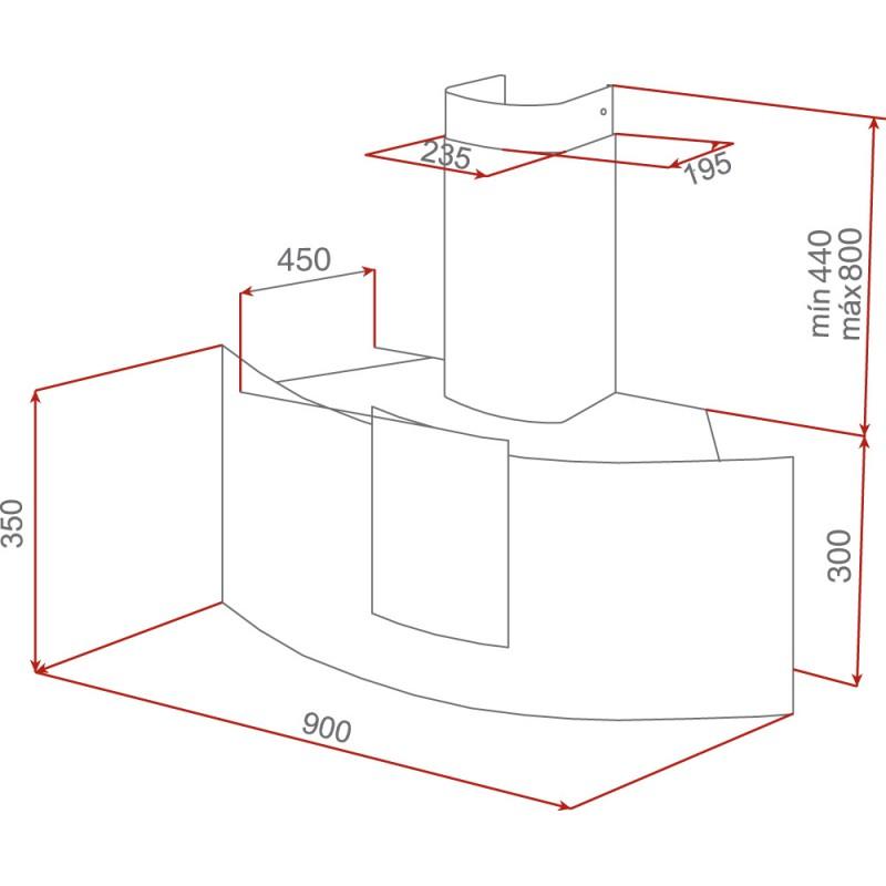 Абсорбатор за стенен монтаж Teka DU 90