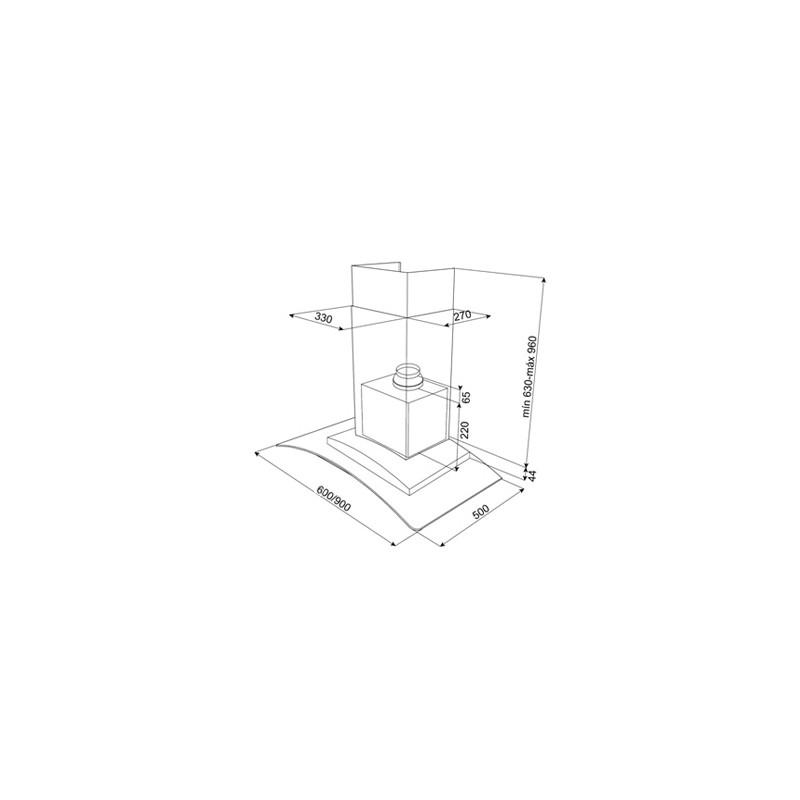 Абсорбатор за стенен монтаж Teka NC2 60/90
