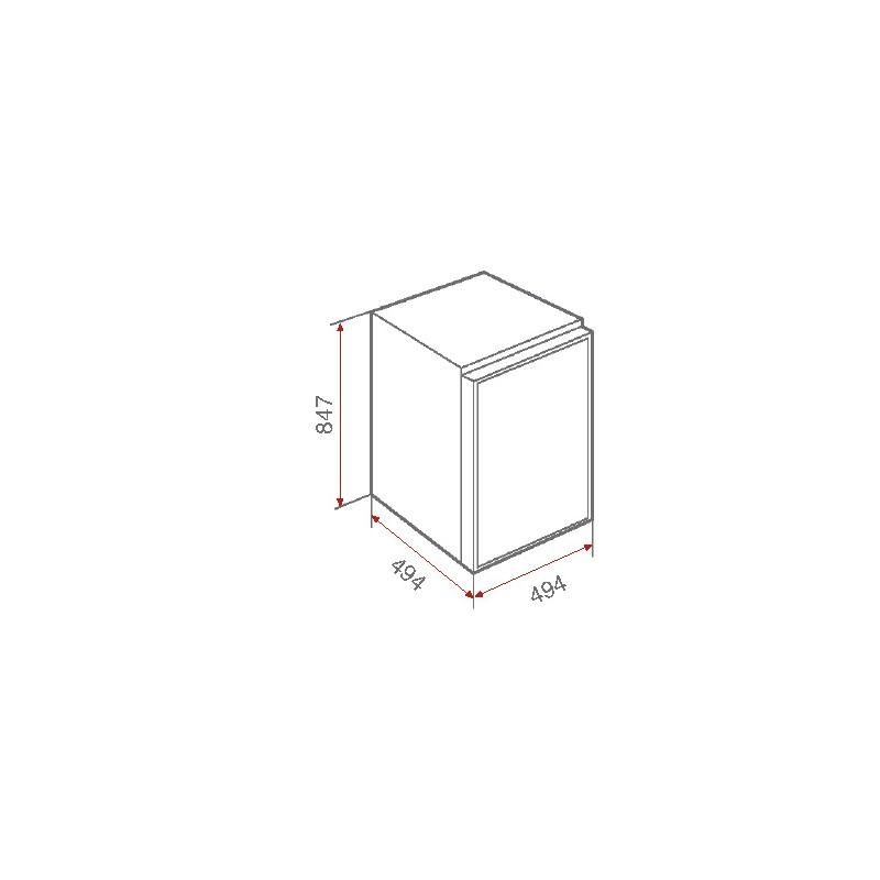 Хладилник Teka TS 138, горна камера, клас А+