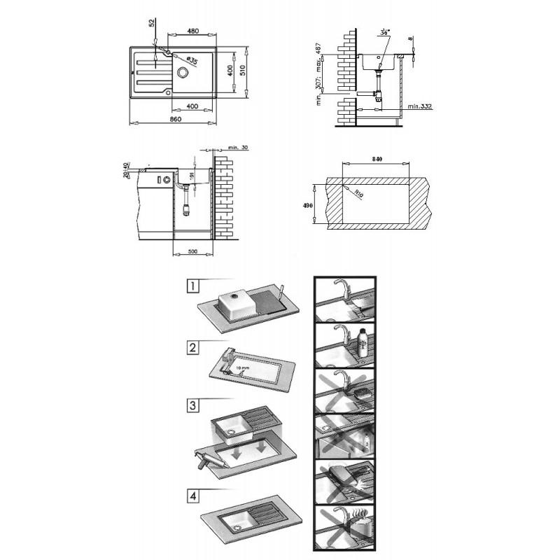 Мивка за вграждане Teka Lux 86 1C 1E