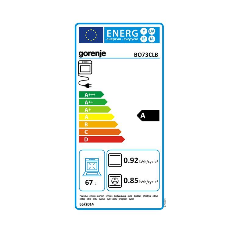 Фурна за вграждане с инфра нагревател и вентилатор, Gorenje BO73CLB