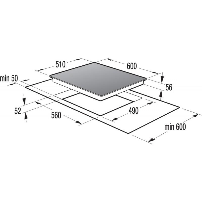 Индукционен плот за вграждане, 60см, Gorenje IQ634USC