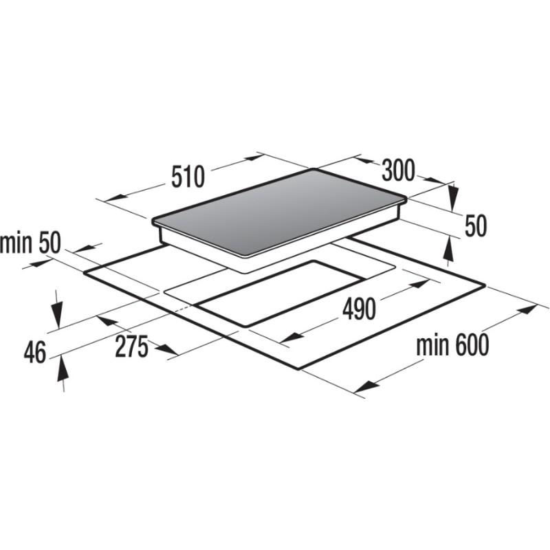 Стъклокерамичен плот за вграждане, 30 см, Gorenje ECT310CSC