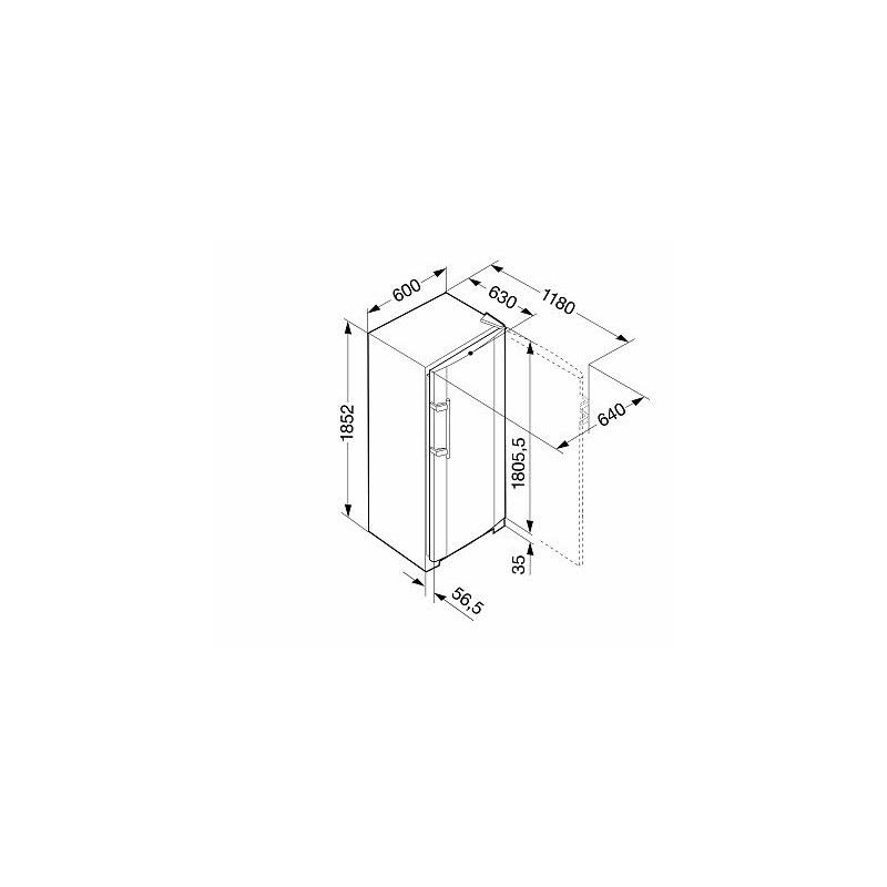 Фризер, обем 304 л, клас А+, Ледогенератор, LIEBHERR GNes 3076