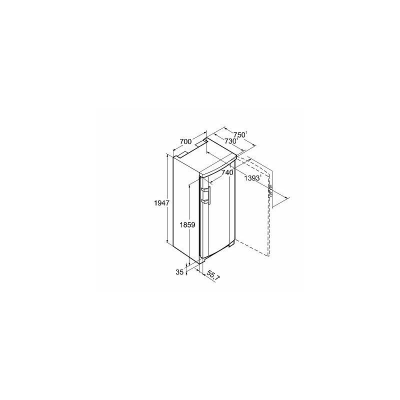 Вертикален фризер, обем 413 л, клас А++, LIEBHERR G 4013