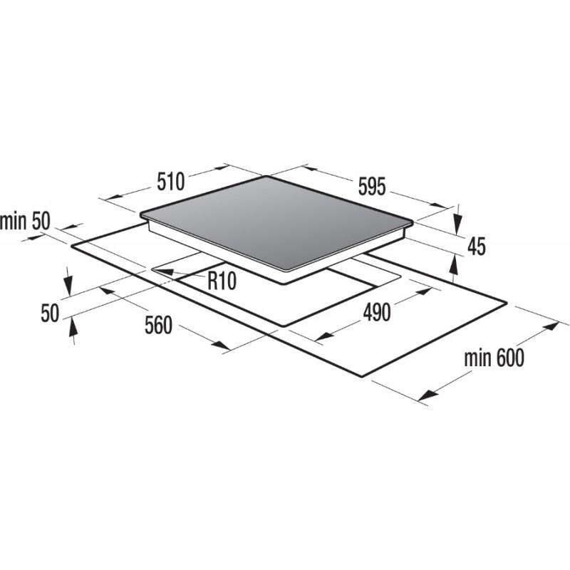 Стъклокерамичен плот за вграждане Gorenje ECT633SC