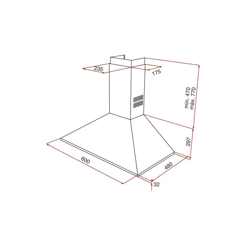 Абсорбатор за стенен монтаж Teka DBP 60 PRO