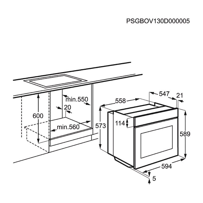 Фурна за вграждане Electrolux EOB3450AOX
