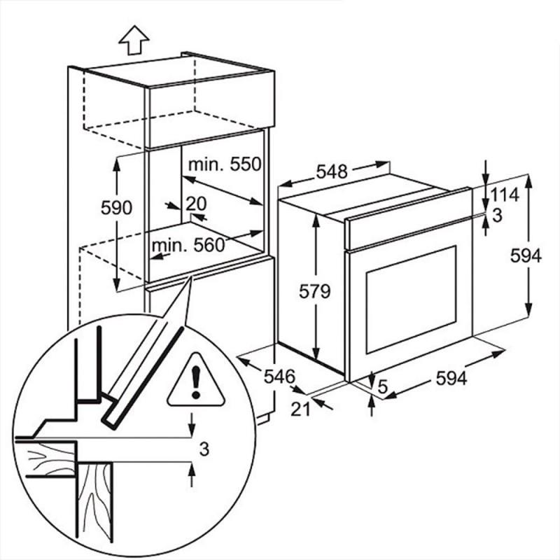 Фурна за вграждане Electrolux EOB5450AOX, А++, 74л, инокс