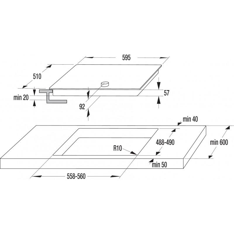 Индукционен плот за вграждане Gorenje IC634CLI