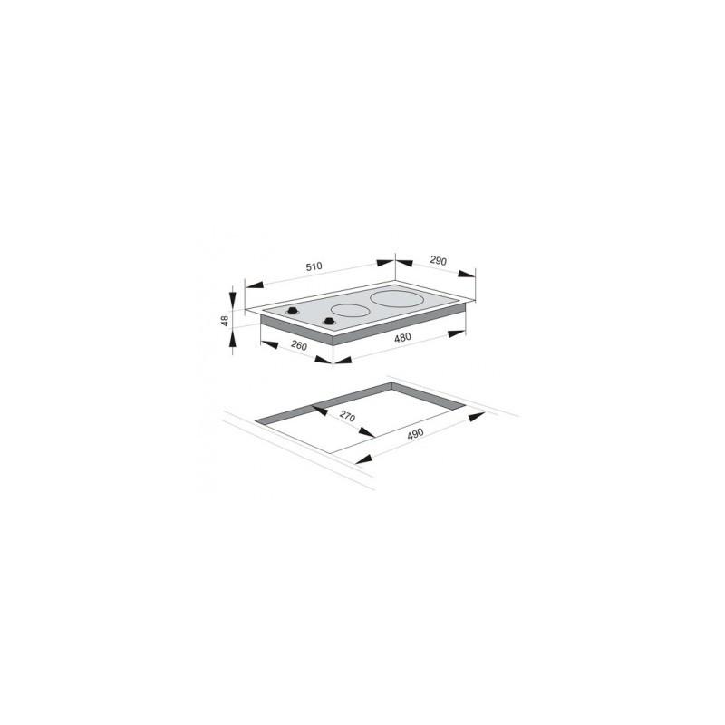 Индукционен плот за вграждане, сензорно управление, индикатор за топлина Hansa BHII37303