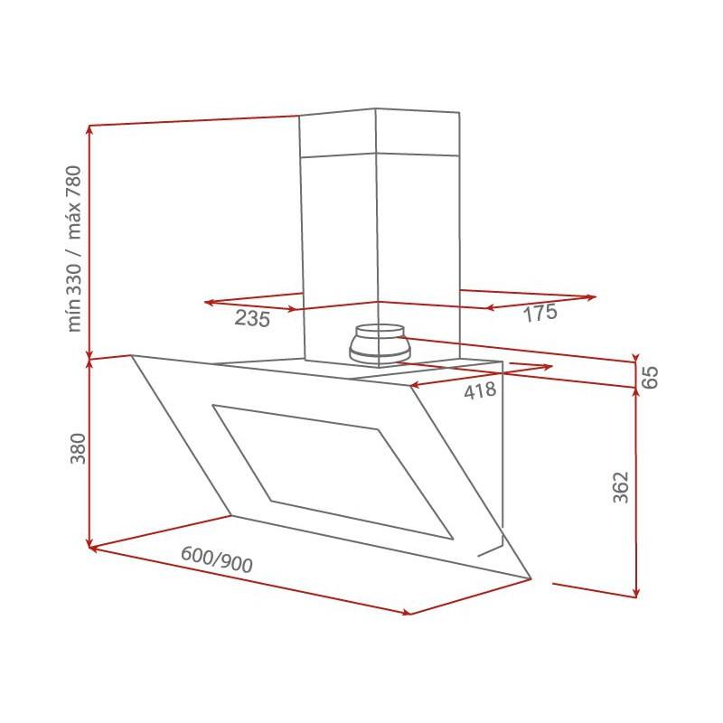 Аспиратор за стена Teka DVT 60 HP Бял