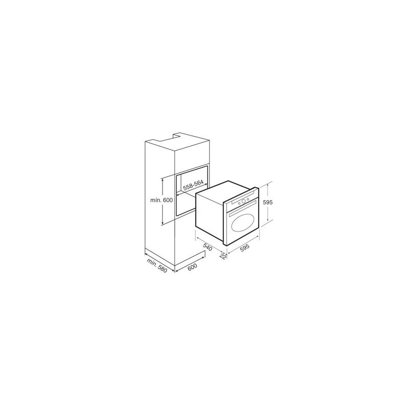 Фурна за вграждане Teka HR 750, Бежова, клас А, 9 функции