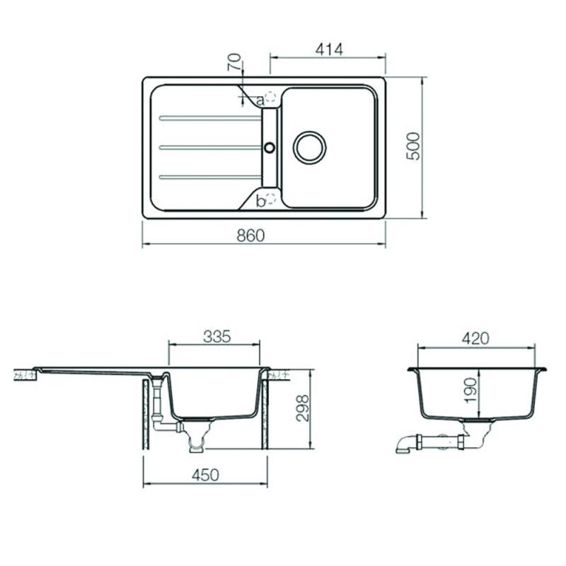 Мивка за вграждане от синтетичен гранит Teka Simpla 45 B-TG