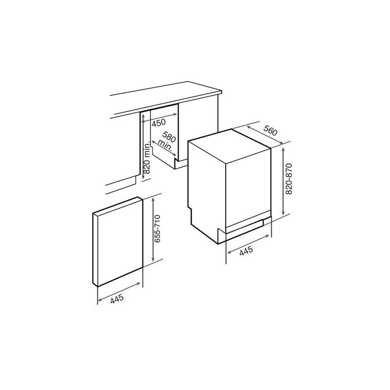 Съдомиялна машина за вграждане Teka DW1 455 FI