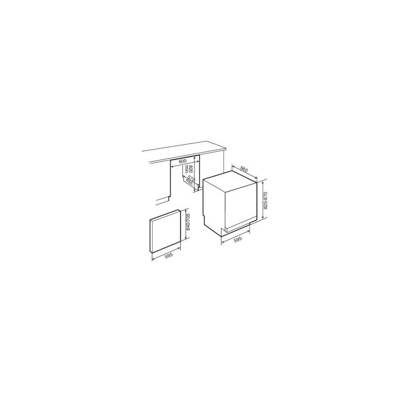 Съдомиялна за вграждане Teka DW7 57 FI, клас А+, 60см