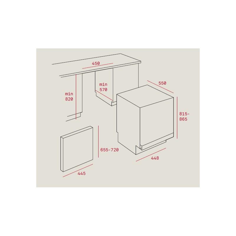 Съдомиялна машина за вграждане Teka DW8 41 FI , клас А++, 45 см