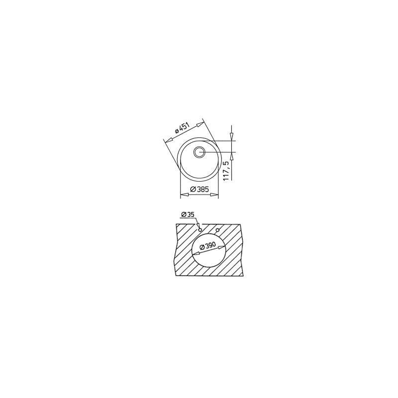 Мивка за вграждане Teka BE Ø39