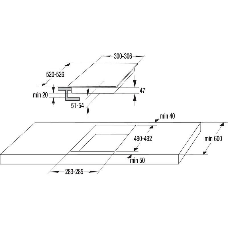 Стъклокерамичен плот за вграждане Gorenje ECT322KR