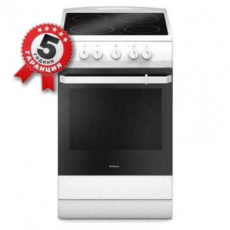 Електрическа готварска печка, 50 см, Обем на фурната 69л, Hansa FCCW 53009