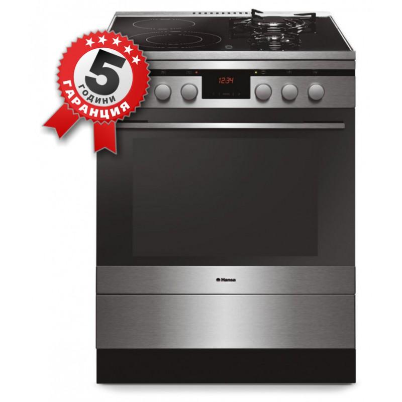 Комбинирана готварска печка, 60см, 66 л, на газ и ток Hansa FCMX 69215