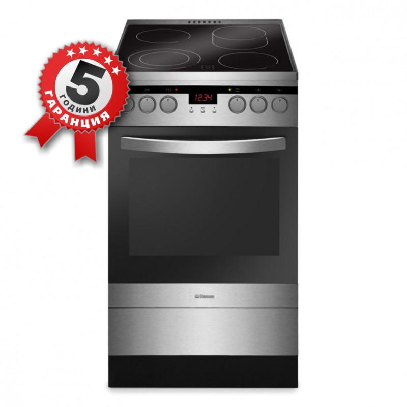 Стъклокерамична готварска печка, 50см, клас А, обем 66л, Hansa FCCX59226