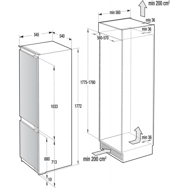 Хладилник & фризер за вграждане Gorenje NRKI2181A1