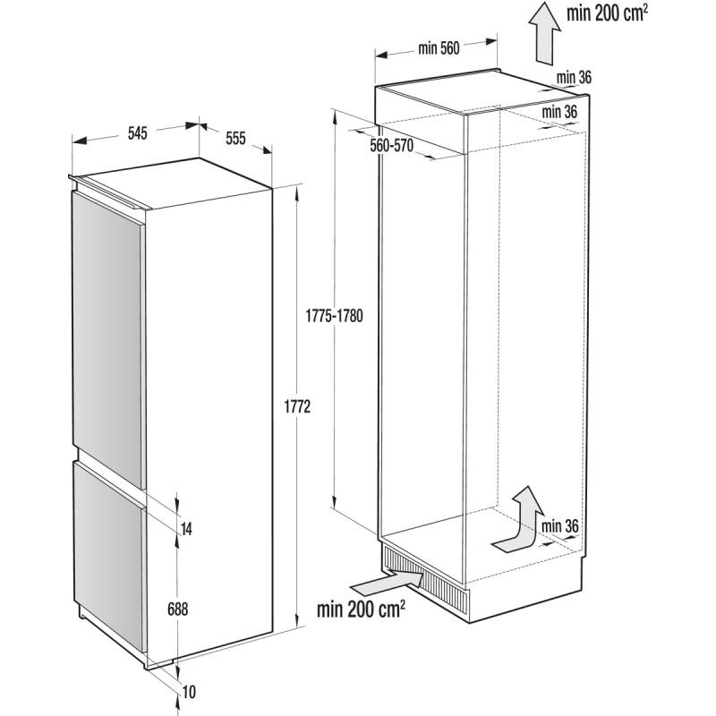 Хладилник & фризер за вграждане Gorenje NRKI5182A1