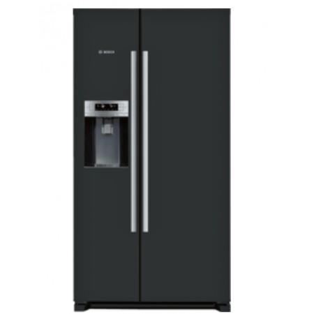 Хладилник с фризер, 2 врати Side-by-Side, NoFrost ,Черен BOSCH KAD90VB20