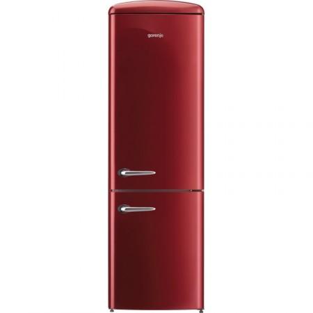 Хладилник сфризер, Gorenje Retro Collection ORK192R, цвят червен