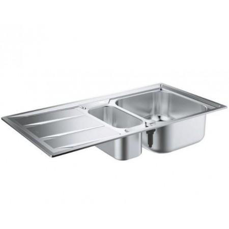 Мивка за кухня Grohe K400 с плот за отцеждане и две корита 31567SD0