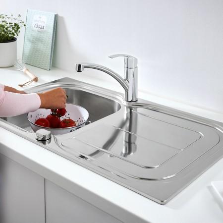 Комплект кухненска мивка Grohe K300 и смесител за кухня Eurosmart 31565SD0