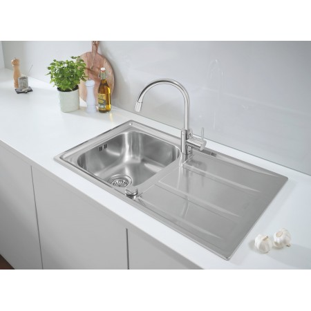 Комплект кухненска мивка Grohe K400 и смесител за кухня Concetto 31570SD0