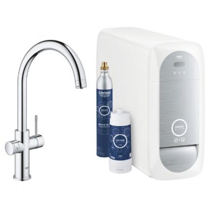 Кухненски смесител, филтрирана, изстудена и газирана вода 31455001