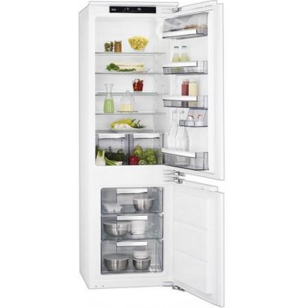 Хладилник с фризер за вграждане AEG SCE 81811LC(ST)