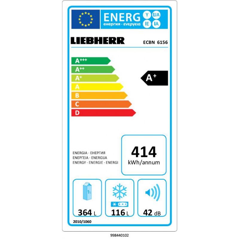 Хладилник с фризер за вграждане LIEBHERR ECBN 6156 PremiumPlus BioFresh NoFrost