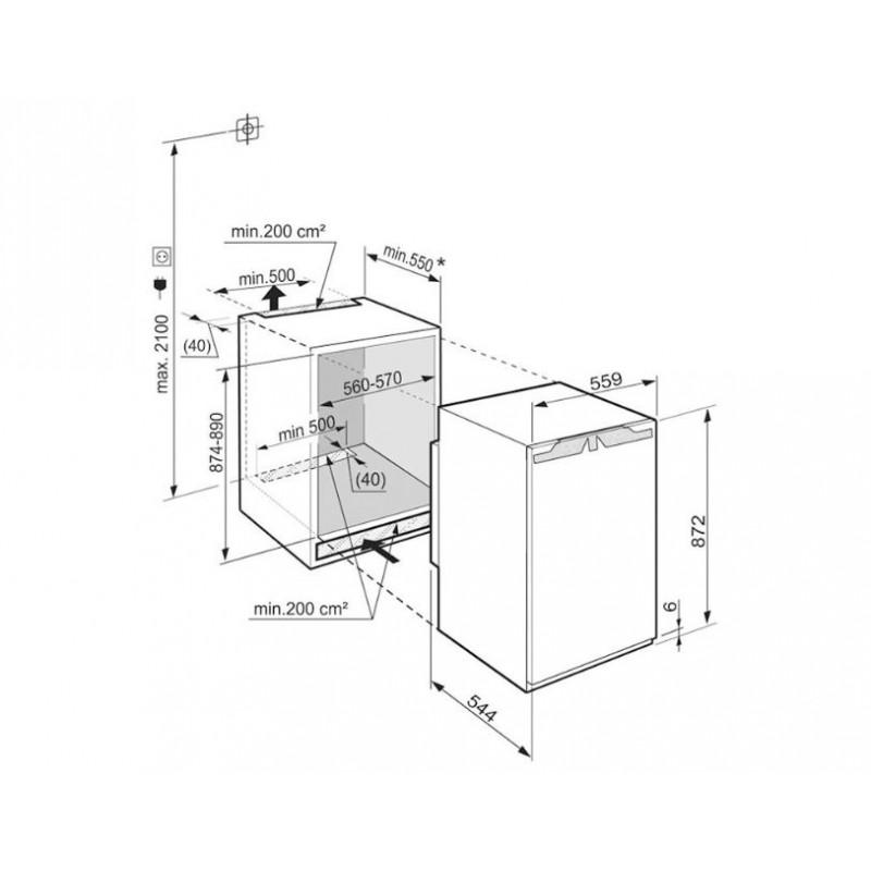Хладилник за вграждане LIEBHERR IK 1624 Comfort