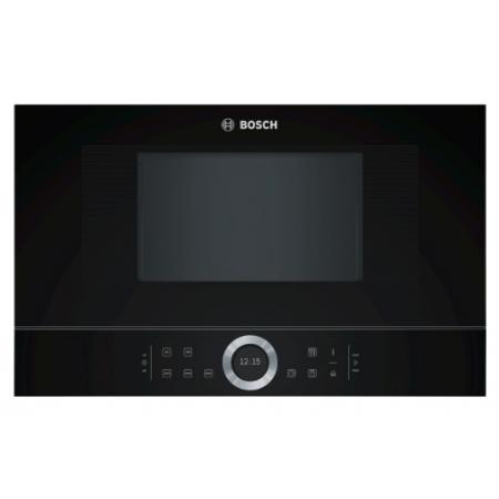 Микровълнова фурна за вграждане BOSCH BFL634GB1, AutoPilot 7, черно стъкло