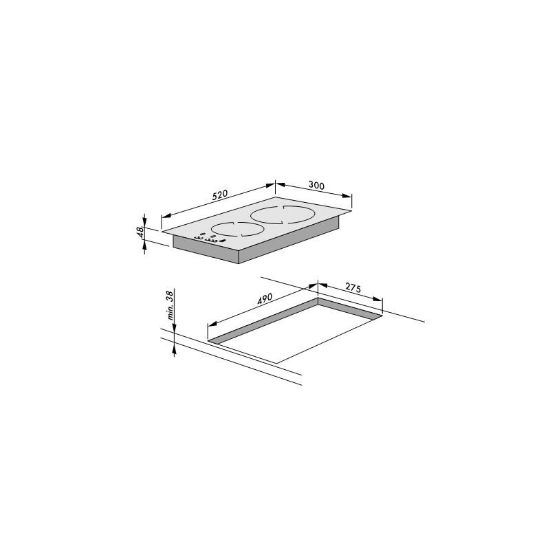 Плот за вграждане, Сензорнo управление, Таймер, Hansa BHC36106